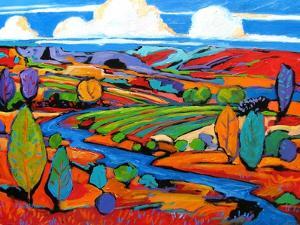 Southwest Fauve Landscape by Patty Baker