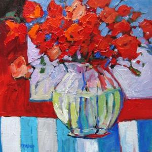 Still Life with Red Flowers by Patty Baker