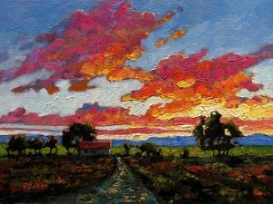 Sunset on the Plains by Patty Baker
