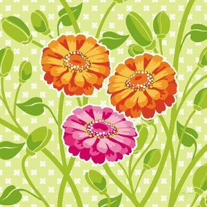 Zinnias II by Patty Young