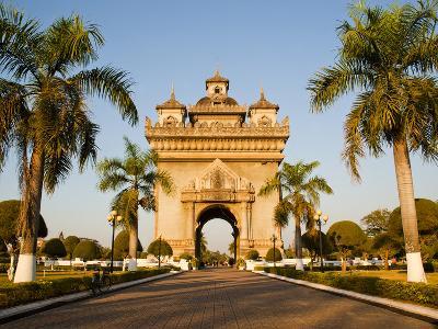 Patuxai, (Victory Gate), a Replica of Arc de Triomphe, Vientiane, Laos, Indochina, Southeast Asia-Matthew Williams-Ellis-Photographic Print