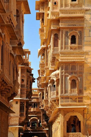 Patwa Havelis, Renowned Private Mansion in Jaisalmer, Rajasthan, India, Asia-Godong-Photographic Print