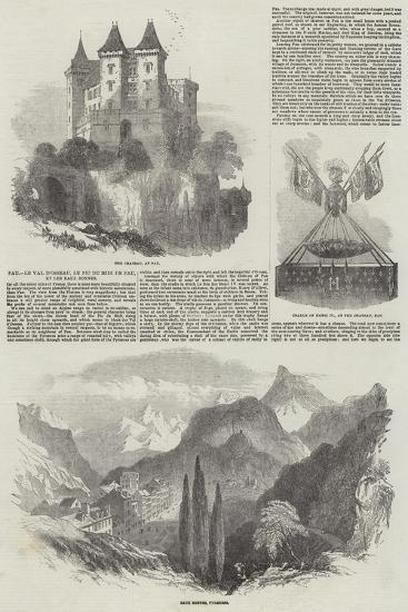 Pau, Le Val D'Osseau, Le Pic Du Midi De Pau, Et Les Eaux Bonnes-Samuel Read-Giclee Print