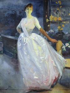 Portrait of the Artist's Wife, Madame Roger Jourdain, C.1886 by Paul Albert Besnard