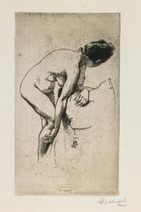 Study of Nude Female Figure, 1886 by Paul Albert Besnard