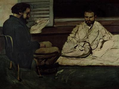 Paul Alexis (1847-1901) Reading a Manuscript to Emile Zola (1840-1902) 1869-70-Paul C?zanne-Giclee Print