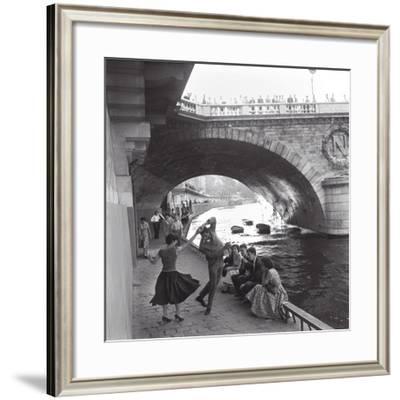 Rock 'n' Roll Dancers on Paris Quays, River Seine, 1950s