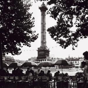 Street Cafe in the Rain, Colonne de Juillet, c1955 by Paul Almasy