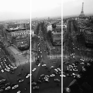 View From The Arc De Triomphe To The Place De L'Et by Paul Almasy