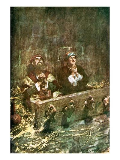 Paul and Silas in Prison-William Hatherell-Giclee Print