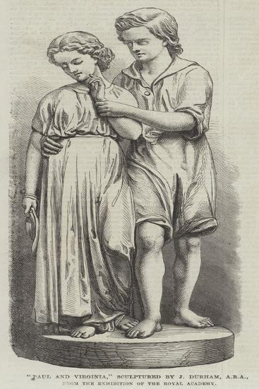 Paul and Virginia, Sculptured by J Durham, Ara--Giclee Print