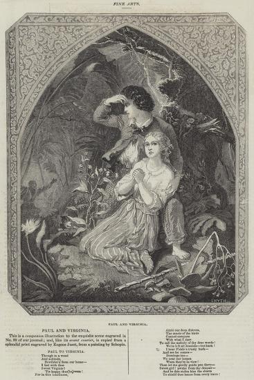 Paul and Virginia--Giclee Print
