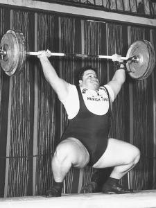 Paul Anderson Lifts 320 Pounds During the 1955 Weightlifting World Championships at Munich