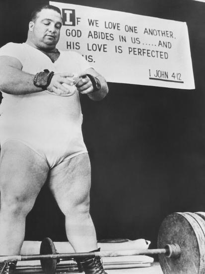 Paul Anderson, Performed at Weight Lifting and Strength Exhibitions--Photo
