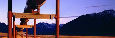 The Trans Alaska Pipeline Just North of the Brooks Range Looking South by Paul Andrew Lawrence