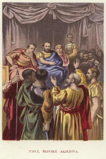 Paul before Agrippa--Giclee Print