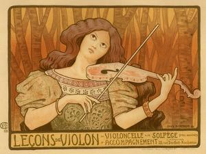 Leçons De Violon, 1898 by Paul Berthon