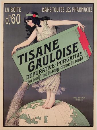 Poster Advertising Tisane Gauloise, Printed by Chaix, Paris, C.1900 (Colour Litho)