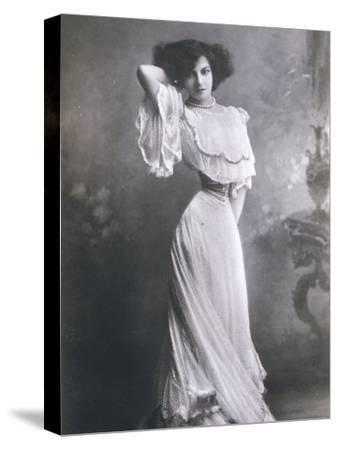 Polaire French Music Hall Entertainer in an Elegant White Dress