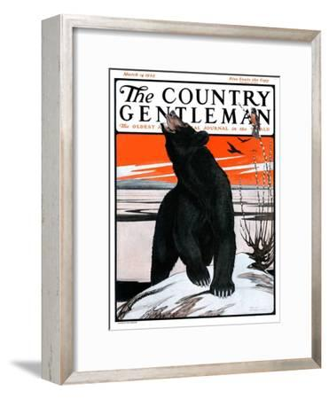 """""""Bear and Robin Welcome Spring,"""" Country Gentleman Cover, March 14, 1925"""