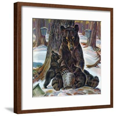 """""""Bears Eating Maple Syrup,"""" March 28, 1942"""