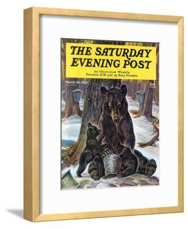 """""""Bears Eating Maple Syrup,"""" Saturday Evening Post Cover, March 28, 1942"""