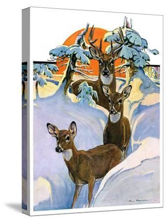 """""""Deer in Snow,""""February 7, 1931"""