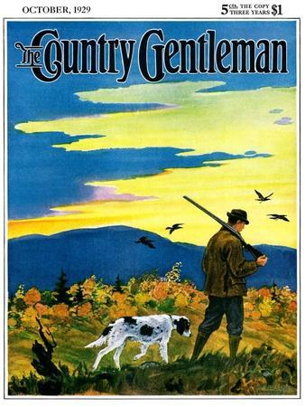 """""""Duck Hunter and Dog,"""" Country Gentleman Cover, October 1, 1929"""