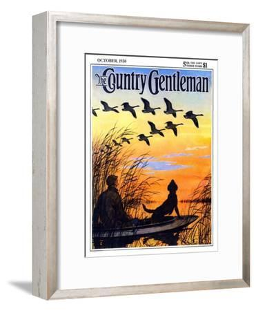 """""""Geese in Formation over Marsh,"""" Country Gentleman Cover, October 1, 1930"""