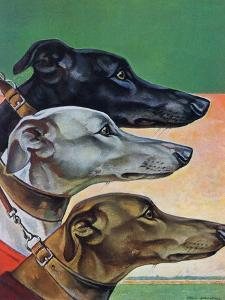 """Greyhounds,"" March 29, 1941 by Paul Bransom"