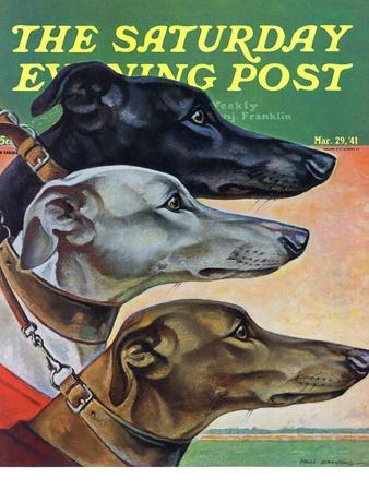 """""""Greyhounds,"""" Saturday Evening Post Cover, March 29, 1941"""
