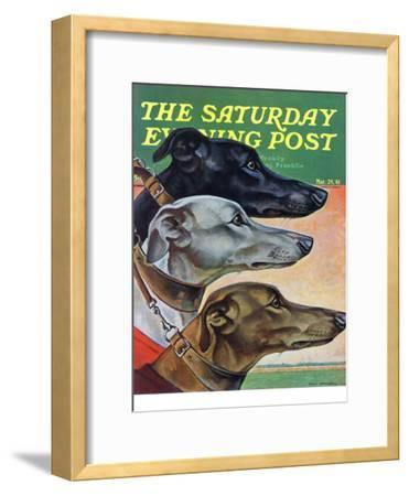 """Greyhounds,"" Saturday Evening Post Cover, March 29, 1941"