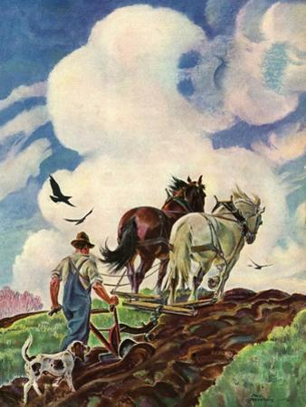 """Horse-Drawn Plow,""March 1, 1939"