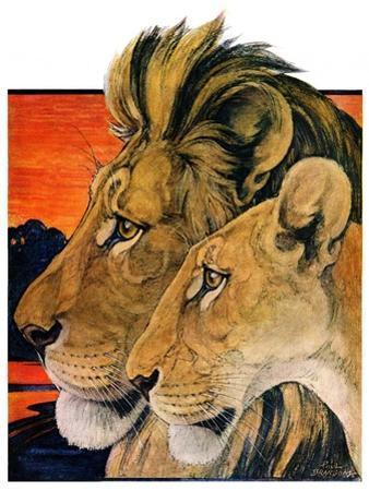 """""""Lion Pair,""""April 27, 1929"""