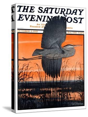 """Marsh Bird,"" Saturday Evening Post Cover, October 3, 1925"