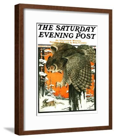 """""""Owl and Rabbit,"""" Saturday Evening Post Cover, March 14, 1925"""