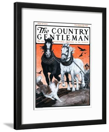 """""""Plowing the Field,"""" Country Gentleman Cover, July 26, 1924"""