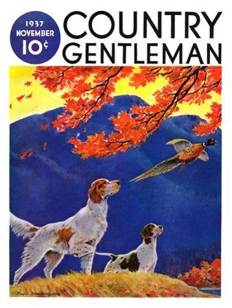 """Pointing to the Pheasant,"" Country Gentleman Cover, November 1, 1937"