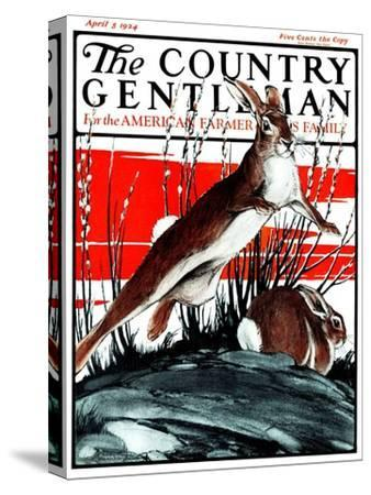 """""""Rabbits in Pussy Willows,"""" Country Gentleman Cover, April 5, 1924"""