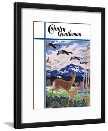 """""""Spring in the Meadow,"""" Country Gentleman Cover, March 1, 1938"""
