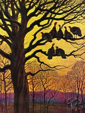 """""""Wild Turkeys Roosting,""""November 1, 1938"""