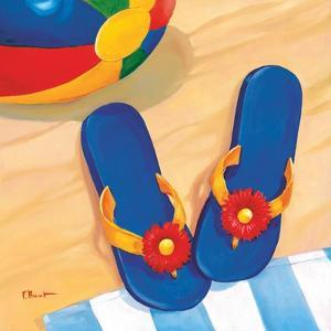 Blue Flip Flops by Paul Brent
