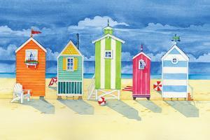 Brighton Huts by Paul Brent