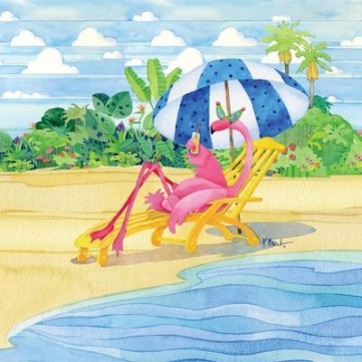 Deck Chair Flamingo by Paul Brent
