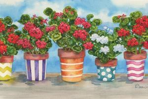 Fancy Pots Geraniums by Paul Brent