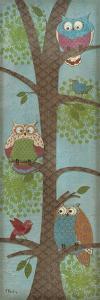 Fantasy Owls Panel II by Paul Brent