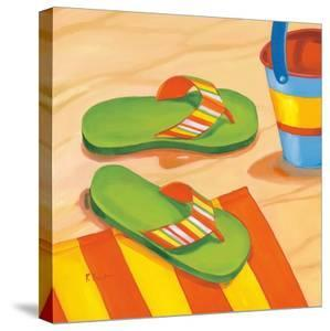 Green Flip Flops by Paul Brent