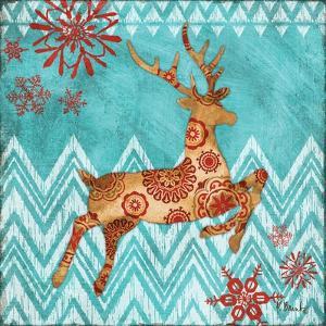 Ice Reindeer Dance I by Paul Brent