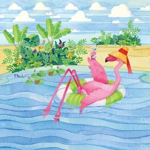 Martini Float Flamingo by Paul Brent