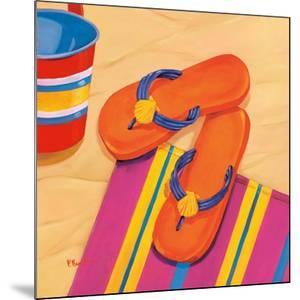 Orange Flip Flops by Paul Brent
